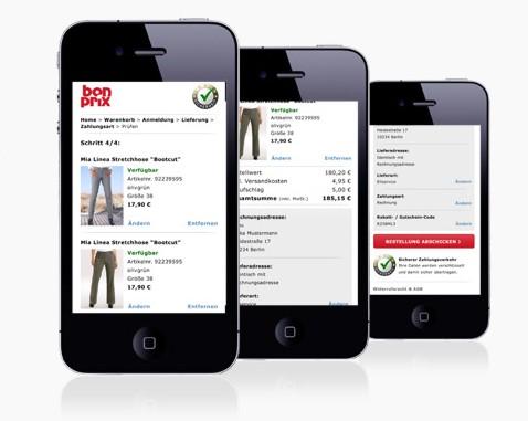 Bonprix mobil einkaufen