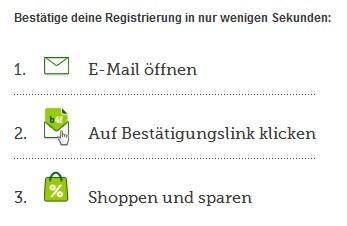 brands4friends Registrierung