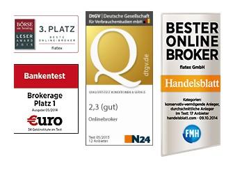 Flatex Auszeichnungen