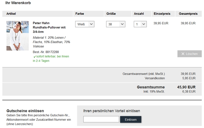 Online-Shop ankommen viel rabatt genießen ᐅ PETER HAHN Versandkostenfrei Gutschein // Alle Codes