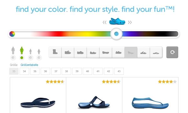 Crocs Farben