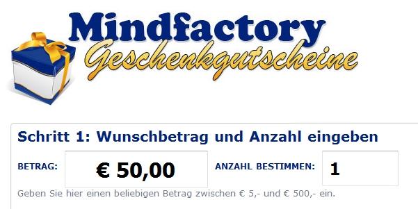 Mindfactory Geschenkgutschein